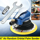 150mm 6'' Air Random Orbital Palm Sander Dual Action Pad Vacuum Hose Polisher