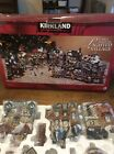 Kirkland Signature LIGHTED Porcelain VILLAGE Christmas set 37pc Train Station