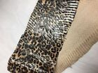GENUINE SNAKE SNAKESKIN SKIN HIDE FULL CRAFTS black tan leopard cheetah print