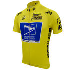 USPS Tour de France Cycling Jersey Retro Road Pro Clothing MTB Short Sleeve Bike
