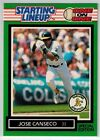 1989 JOSE CANSECO Kenner Starting Lineup Card OAKLAND ATHLETICS ONE on ONE Card