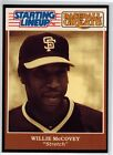 1989 Starting Lineup Cards Baseball Greats Willie McCovey Card, Combined S