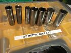 Craftsman 38 Drive Deep Metric Sockets 6pt Usa 9-19mm You Choose Size