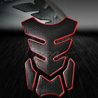 3D 4-Piece Customize Fuel Tank Pad Decal/Sticker Perforated Black+Chromed Red