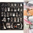 32x Domestic Sewing Machine Presser Foot Feet For Brother Singer Janome Tool Kit
