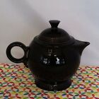 Fiestaware Black Teapot with Lid Fiesta Retired Large OLD STYLE 44 oz.