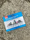 Hilka 10pc Mounted Stone Set - Aluminium Oxide - 1/4'' and 1/8''  Drill, Grinder