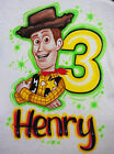 Airbrushed Personalized Toy Story Woody T shirt Bodysuit Hoodie Pillowcase