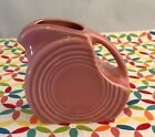 Fiestaware Rose Mini Disc Pitcher Fiesta Retired Pink Creamer