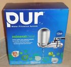 NIB Pur Water Filtration System Mineral Clear Faucet Mount Filter FM 4100B GRAY
