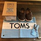 BNIB Tiny Toms Chocolate Brown Canvas Baby Boys Girls Shoes size 4