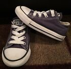 Converse All Star Low Top Kids Infant Toddler Shoes Navy Blue White Size 7c