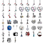 European Silver CZ Fine Alloy Charm Beads Pendant in Bulk Fit Bracelet Chain