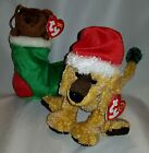 Stocking & Jinglepup Ty Beanie Baby set of 2 - MWMT - FREE SHIPPING