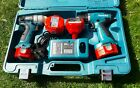 QUALITY MAKITA 12V IMPACT DRIVER AND 14.4V COMBI DRILL SET IN CASE WITH CHARGER