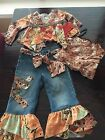 New Little Mass Girls Boutique Pageant Casual Denim Wear Outfit Size 2T
