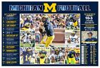 THE MICHIGAN WOLVERINES 2017 PICTORIAL FOOTBALL SCHEDULE POSTER