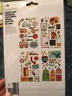 Chipboard Stickers 4 PGS Travel Car Vacation Real Thick Scrapbooking Crafts