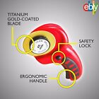 45mm TITANIUM Coated Blade Rotary Cutter Wheel Knife Sharp Precision Cutting