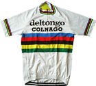 DEL TONGO EDDY MERCKX Cycling Jersey Retro Road Pro Clothing MTB Short Sleeve