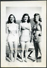 VOLUPTUOUS BATHING BEAUTY WOMEN in SWIMSUITS at the BEACH VINTAGE PHOTO