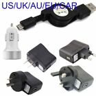 Retractable micro usb charger for For Motorola Droid X Mb810 car