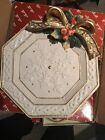 Fitz & Floyd 1996 Snowy Woods Snowflake Canape Tray-Can be used for Wall Decor