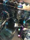 Indiana Glass Blue Carnival Harvest Princess Grape Punch Bowl Set 29 Pieces