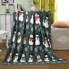 Christmas Santa  Halloween Fleece Throw Blankets Assorted Styles