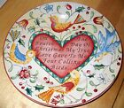 222 Fifth TWELVE DAYS OF CHRISTMAS Salad Plate four calling birds   100