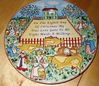222 Fifth TWELVE DAYS OF CHRISTMAS Salad Plate Eight maids milking cows   100