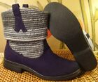 Cute Linea YESS Black Suede  Knit Ankle Boots Womens US Size 7 M