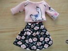 Blythe Skipper Outfit Clothing Llama Top w Flowered Skirt