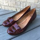 SOFFT Red Patent Leather Mary Jane Heels Womens Size 8 Kitten Heels
