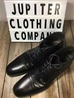 JOHNSTON  MURPHY Mens Oxford Chukka Ankle Boots Black Leather Cap Toe Lace 13M