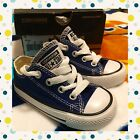Converse All Star Baby Boy Toddler Infant Sz 4 CTAS OX Roadtrip Blue Cute