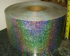 HOLOGRAPHIC CONFETTI STICKER strip 5 X 12 ft peel off back sign shape letter