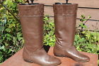 TALL VINTAGE BOHO BROWN LEATHER RIDING BOOTS 9 M