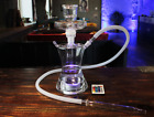 High Quality Hand Blown Borosilicate glass All Glass Hookah Shisha with LED