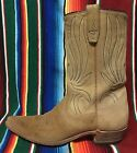 Vintage TEXAS cowboy boots  tan roughout  Womens US 8 B