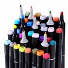 Ohuhu 80 Colors Dual Tips Art Sketch Twin Marker Pens W Carrying Case Painting