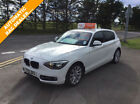 BMW 120 20TD auto 2012 d Sport White 5 dr alloys sat nav car finance available