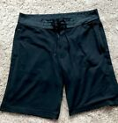 Lululemon Mens Navy Blue Athletic Shorts Tie Waist Size 36 WIth Liner