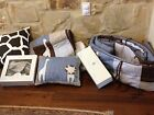 Pottery Barn Crib Bedding Light blues  Browns Hardly used
