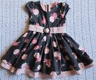 Pumpkin Patch gray and pink dress with roses size 3T EUC