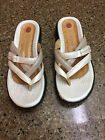 Womens Clarks Taupe Flat Thong Sandals Shoes