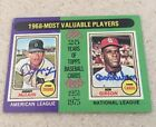 St Louis Cardinals Bob Gibson and Denny McLain 1975 Topps #206 signed Auto