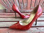 chERRy ReD Sz 75 PaTeNT Leather Pointy Toe CARRIE Stiletto Heels PUMP GuESS