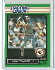 1989 Pete Stanicek Baltimore Orioles Starting Lineup Card SLU MLB Baseball