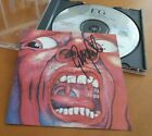 King Crimson SIGNED CD In the Court of the Crimson King Robert Fripp Greg Lake